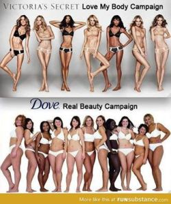 Victoria Secret vs Dove Beauty Campaigns